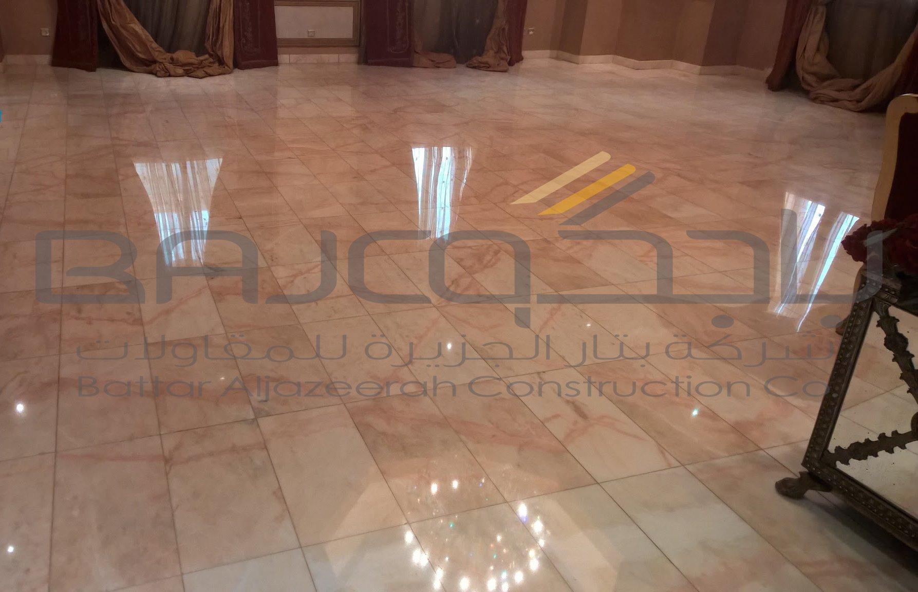 جلي رخام روزا في قصر خاص شركة بدء الانجاز للرخام باجكو Bajco