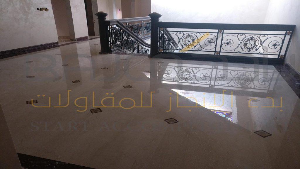 رخام بوتشينو بعد الجلي والتلميع