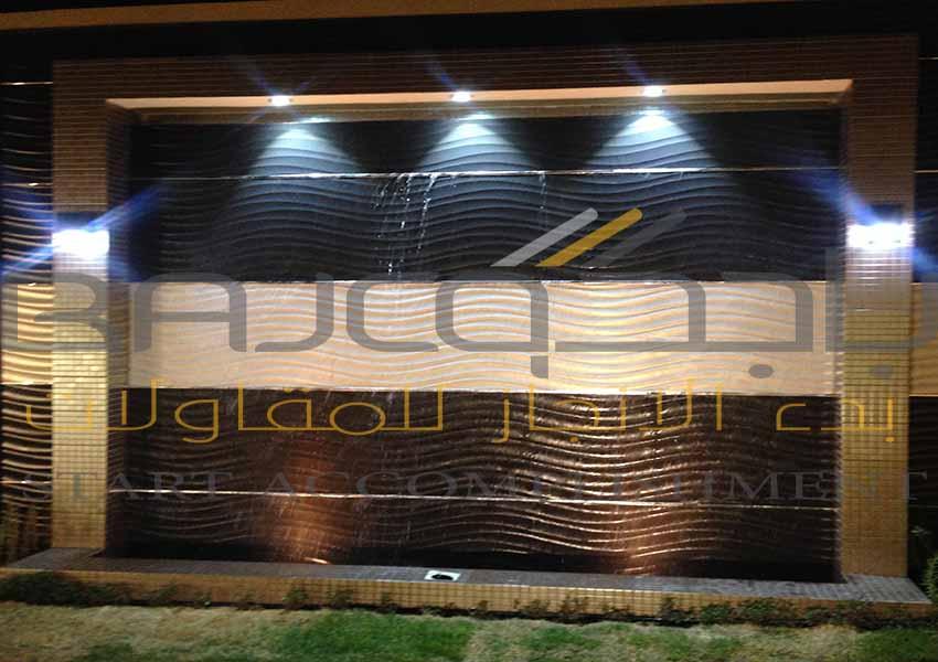 شلالات مائيه صناعية تصميم توريد تنفيذ في الرياض