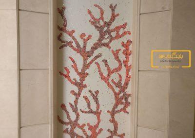 تركيب لوحات جدارية موزاييك