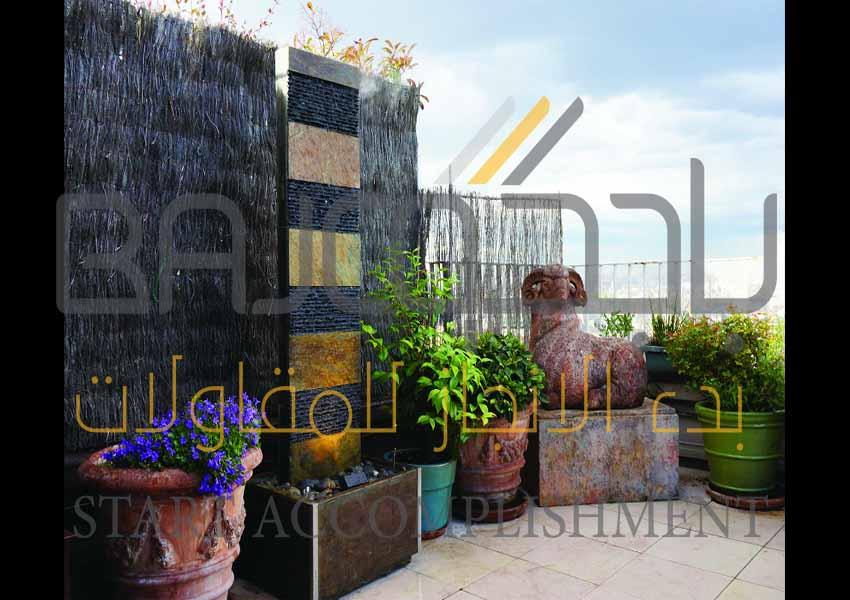 تركيب شلالات في الرياض بتصاميم واشكال من الرخام