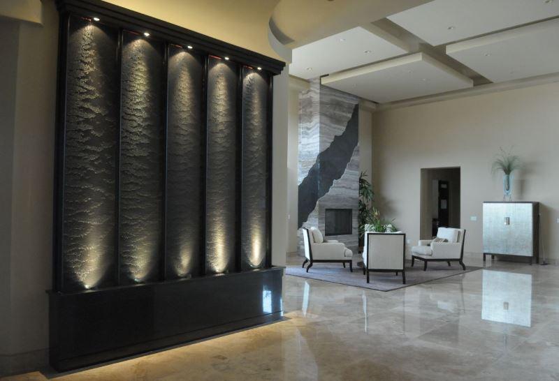 تصميم شلالات جدارية روعه وجديده للحدائق والمنازل العصريه