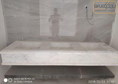تفصيل وتركيب مغاسل رخام بحوض شلال (2)