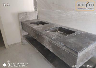 تفصيل وتركيب مغاسل رخام بحوض شلال (4)