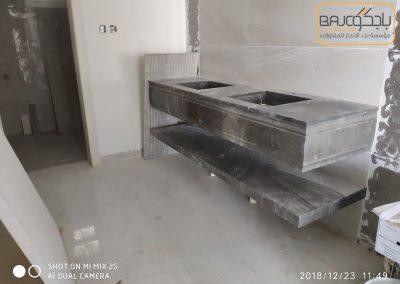 تفصيل وتركيب مغاسل رخام بحوض شلال (8)