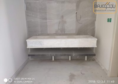 تفصيل وتركيب مغاسل رخام بحوض شلال (9)
