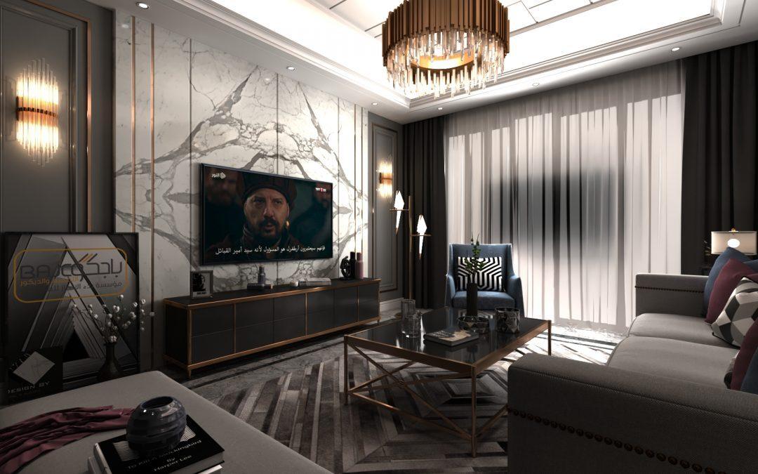 تصميم خلفية تلفزيون من رخام الستتواريو