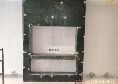 توريد وتركيب رخام اخضر هندي واجهة مصعد (1)