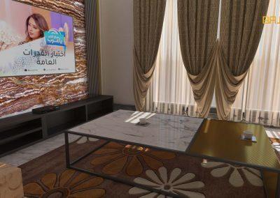 خلفية تلفزيون من رخام الاونيكس