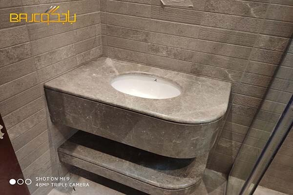 تفصيل مغاسل رخام طبيعي وودن جري صيني