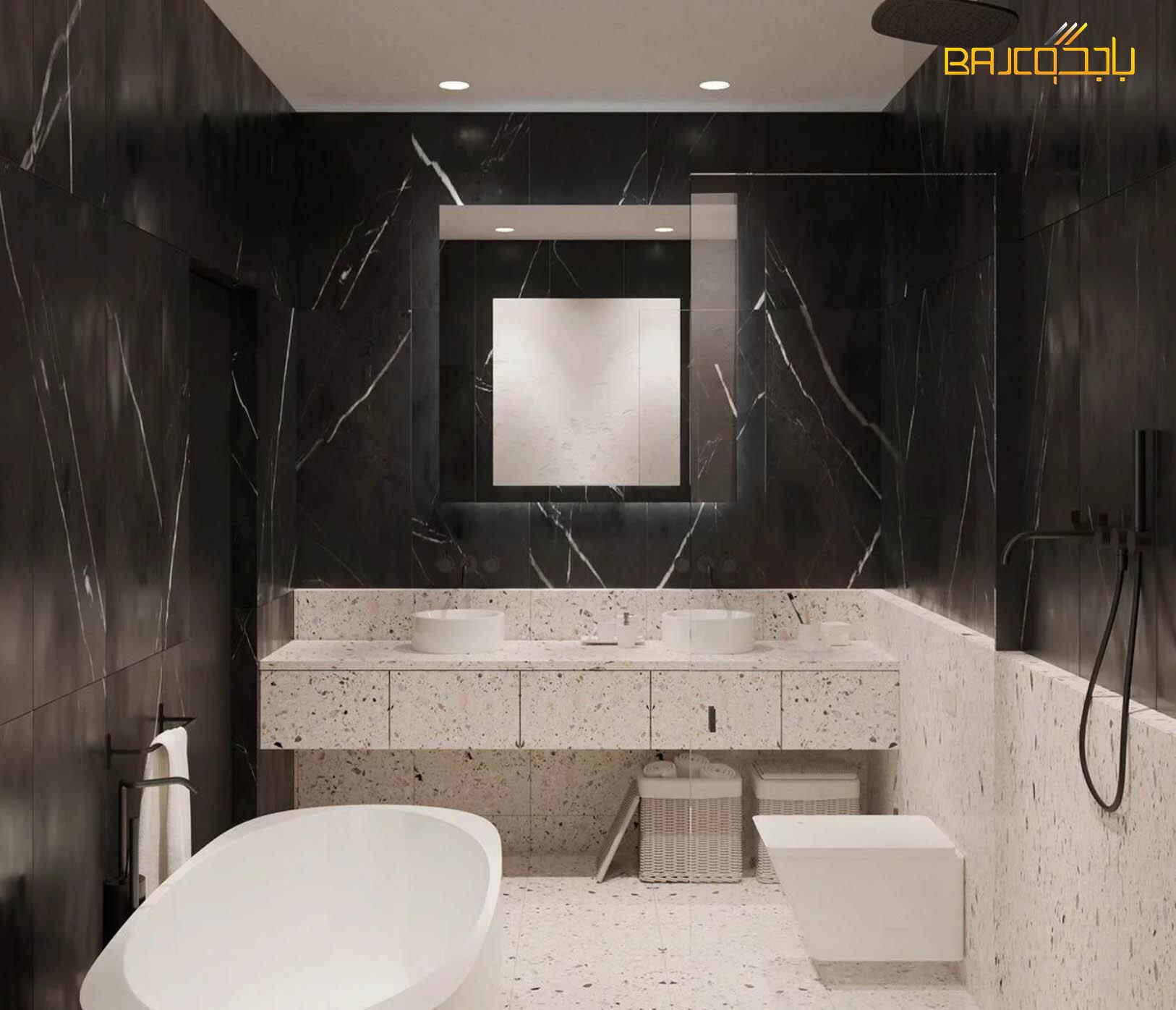 مغسلة تيرازو داخل الحمام حوضين