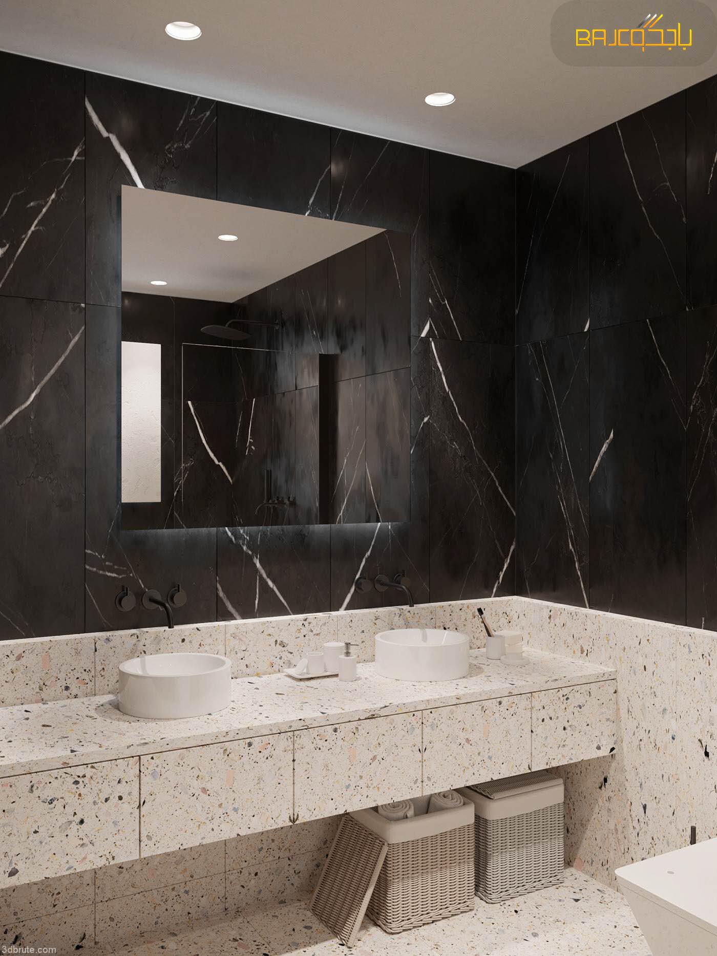 مغسلة تيرازو داخل الحمام 3 احواض