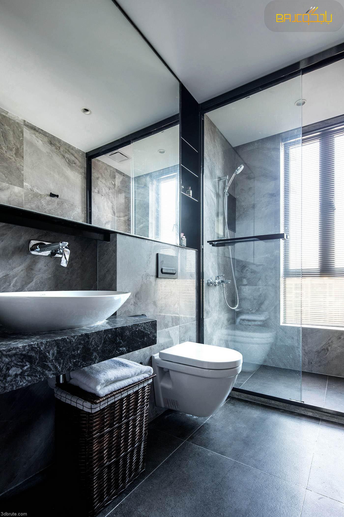 مغسلة رخام داخل الحمام