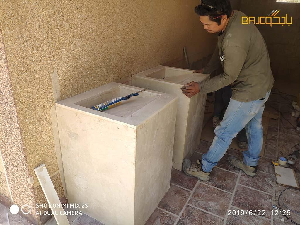 تفصيل مغاسل رخام طبيعي (1)