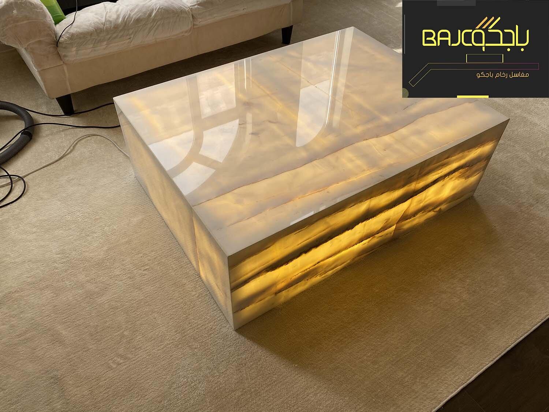 طاولة رخام اونيكس 10
