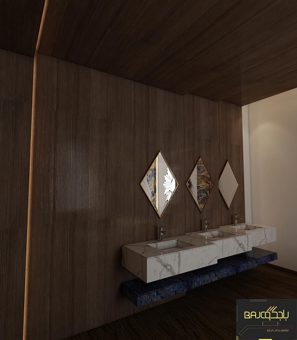 مغسلة رخام ابيض ثلاث احواض